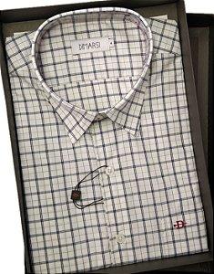 Camisa Dimarsi - Com Bolso - Manga Curta - 100% Algodão - Ref. 8269 Xadrez
