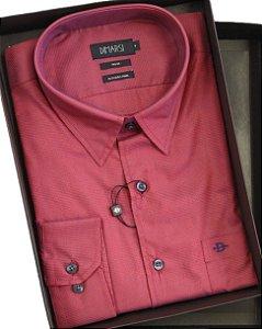 Camisa Dimarsi Com Bolso - Manga Longa - Fio 80 - 100% Algodão - Ref. 8518 vermelha