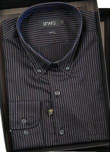Camisa Dimarsi Com Bolso - Manga Longa  - Fio 80 - 100% Algodão - Ref. 6062 Preta