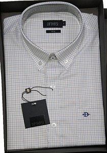 Camisa Dimarsi - Com Bolso - Manga Curta - Fio 80 - 100% Algodão - Ref. 8661 Xadrez
