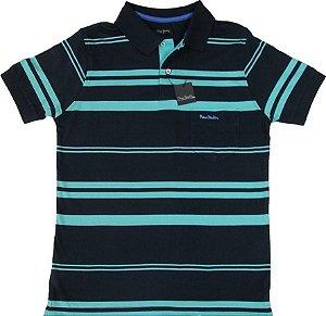 050a71c78d Camisa Polo Pierre Cardin Com Bolso - 100% Algodão - Ref. 15173 Azv
