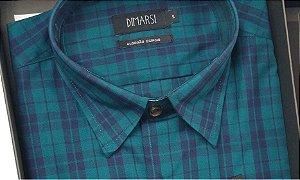 Camisa Dimarsi - Com Bolso - Manga Longa - Algodão Egípcio - Ref. 8020 Xadrez