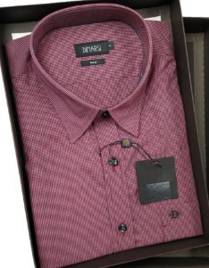 Camisa Dimarsi - Com Bolso - Manga Curta - Fio 80 - 100% Algodão - Ref. 8659 Xadrez