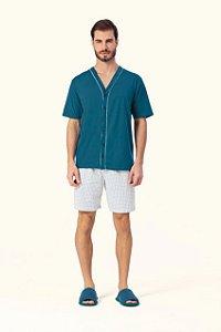 Pijama Aberto Curto Masculino Lua Encantada - Ref. 12540006