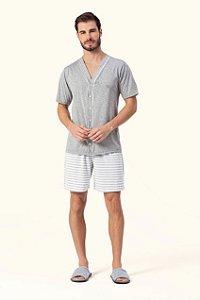 Pijama Aberto Curto Masculino Lua Encantada - Ref. 12540004