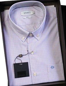 Camisa Dimarsi - Com Bolso - Manga Curta - Fio 80 - 100% Algodão - Ref. 8825V Xadrez