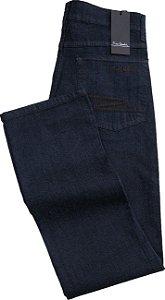Calça Jeans Masculina Pierre Cardin Reta (Cintura Alta) - Ref. 467P001 azul - Algodão / Poliester / Elastano (Jeans Fino e Macio)