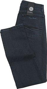 Calça Jeans Masculina Pierre Cardin Reta (Cintura Média) - Ref. 457P906 Grafite - Algodão / Poliester / Elastano (Jeans Fino e Macio)
