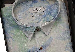 Camisa Floral Dimarsi - Sem Bolso - Manga Curta - Algodão Egípcio - Ref. 8815vr