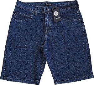 Bermuda Jeans Masculina Pierre Cardin - Ref. 557P376 - Algodão / Poliester / Elastano - Jeans Macio