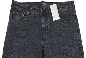 Calça Jeans Masculina Pierre Cardin Reta (Cintura Alta) - Ref. 467P270 Grafite - Algodão / Poliester / Elastano (Jeans Fino e Macio)