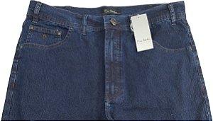 Calça Jeans Masculina Pierre Cardin Reta (Cintura Alta) - Ref. 467P256 Azul - Algodão / Poliester / Elastano (Jeans Fino e Macio)