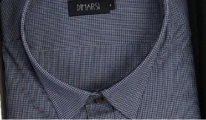 Camisa Dimarsi - Com Bolso - Manga Curta - 100% Algodão - Ref. 8657 Xadrez Azul