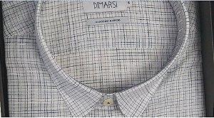 Camisa Dimarsi - Com Bolso - Manga Curta - Algodão Egípcio - Ref. 8917BR Xadrez