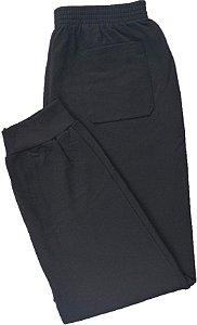 Calça de Moletom Felpado Com Punho Masculina Malwee - 100% Algodão - Ref. 6670 Preta