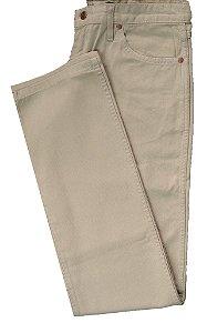 Calça De Sarja Masculina Wrangler Reta Tradicional - Ref. 13MWZWK36 Caqui - 100% Algodão