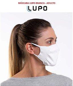 Kit com 2 Mascaras Lupo (ADULTO) Zero Costura - Vírus Bac Off - Tamanho Único - Branca