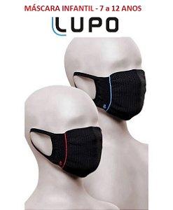 Kit com 2 Mascaras Lupo (INFANTIL) Zero Costura - Vírus Bac Off - Tamanho Único - Preta