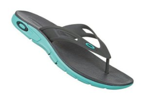 Chinelo Oakley Rest 2.0 - Cinza  com Azul
