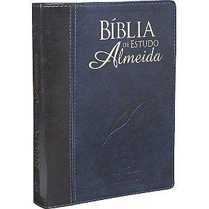 Bíblia De Estudo Almeida Grande Luxo Nova Edição 17x 23,5