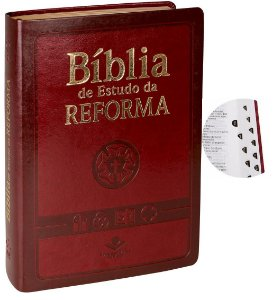 Bíblia De Estudo Da Reforma Com Índice  com caixa cor vinho ou preta