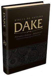 Bíblia Sagrada De Estudo Dake Dicionário Capa Lançamento preta