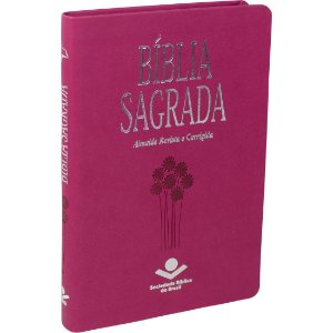 Bíblia Ultra Fina Slim Almeida Corrigida capa Couro Sintético