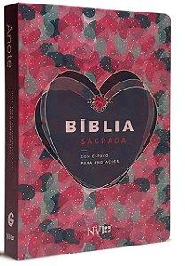 Bíblia Anote Coração Nvi Com Espaço Para Anotações