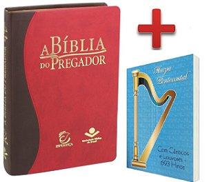 A Bíblia Do Pregador Estudo Capa Couro Luxo - Arc + Harpa