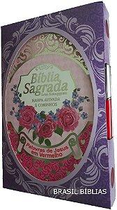 Bíblia Letra Extra Gigante Com Harpa Feminina