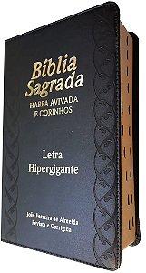 Bíblia Sagrada Letra Hipergigante Harpa Corinhos