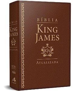 Bíblia De Estudo King James Atualizada - Grande - Capa Luxo Marrom