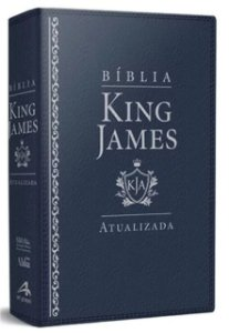 Bíblia De Estudo King James Atualizada - Grande - Capa Luxo Azul