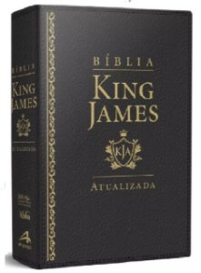 Bíblia De Estudo King James Atualizada - Grande - Capa Luxo Preta
