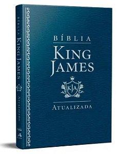 Bíblia King James Atualizada Slim Luxo- Azul
