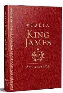Bíblia King James Atualizada Slim Luxo- Vinho