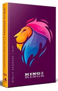 Bíblia King James Atualizada Slim Leão- Lilás
