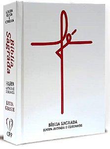 Bíblia Com Harpa Letra Média 16 Cm Branca Fé