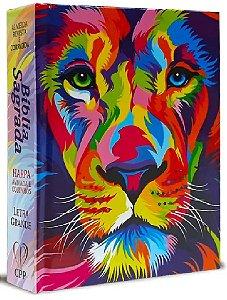 Bíblia Com Harpa Letra Média 16 Cm Colorida Leão
