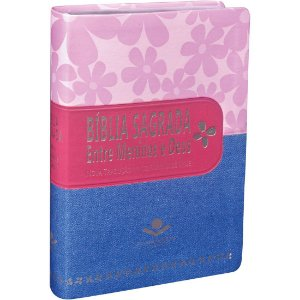 Bíblia Sagrada Entre Meninas E Deus Luxo- Rosa e Jeans