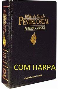 Bíblia De Estudo Pentecostal Capa Luxo com Harpa