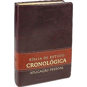 Bíblia De Estudo Cronológica Aplicação Pessoal Tarja Marrom