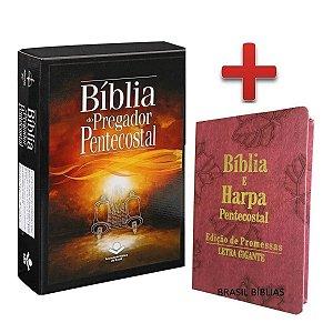 Bíblia Sagrada Pregador Pentecostal + Bíblia Feminina Rosa