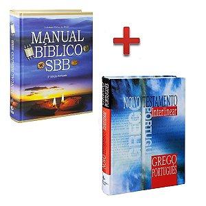 Novo Testamento Interlinear + Manual Bíblico Sbb