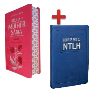 Bíblia De Estudo Ntlh + Bíblia Da Mulher Sábia