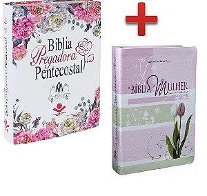 Bíblia Pregadora Pentecostal + Bíblia de Estudo da Mulher