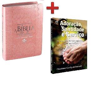 Bíblia Sagrada De Estudo Da Mulher + Livro