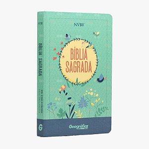 Bíblia NVI - semi luxo - Verde Água- NT duas cores