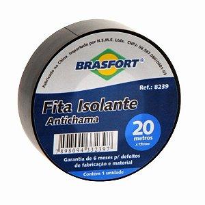 Fita Isolante Antichamas Preta 19mm X 20m Brasfort
