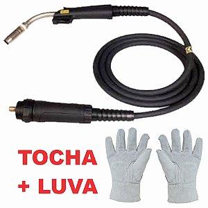 Tocha Solda MIG/MAG MXL - Esab + Luva de Raspa